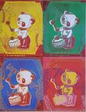 ANDY WARHOL - 'Four Pandas'  Rare poster