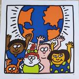 Keith Haring - Kids of the World - 1985 screen print