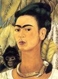 Self Portrait Monkey Frida Kahlo 1938 OFFSET LITHOGRAPH
