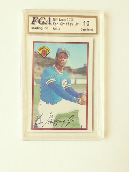Ken Griffey Jr Rookie Card Autographed