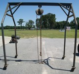 A-frame w/ 1 ton chain hoist