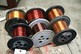 Small copper wire spools