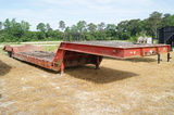 1980 Lowboy drop deck trailer