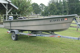 River Ox fishing boat w/ Evinrude motor & trailer
