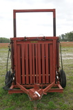 Vertical red box baler