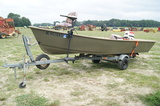 17ft Alindale skiff boat w/ Johnson motor & trailer