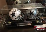 Tony Romo & Dez Bryant autographed helmets