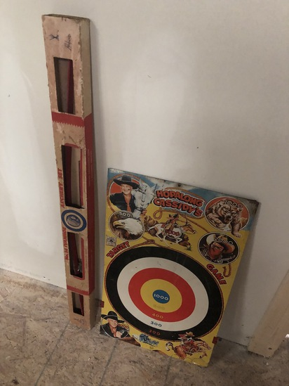 Old Hopalong Cassidy Bow and Arrow
