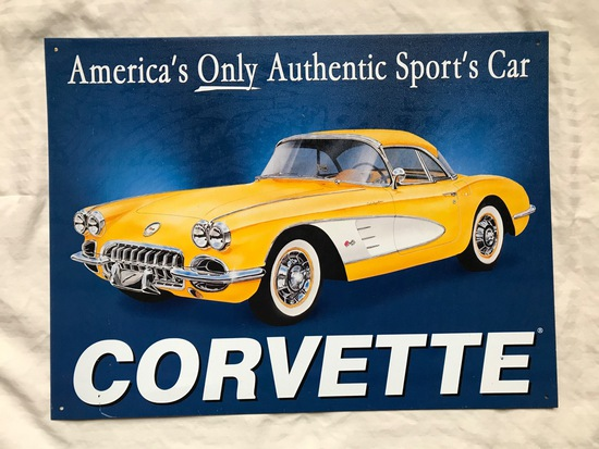 Corvette C1 Tin Sign