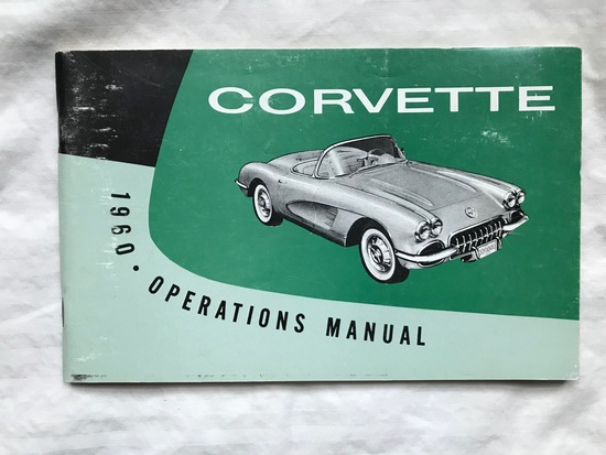 1960 Corvette Operators Manual