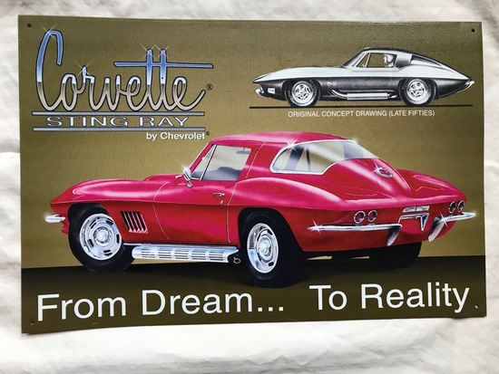 1967 Corvette Tin Sign