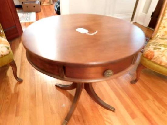 Round Vintage Mahogany Table