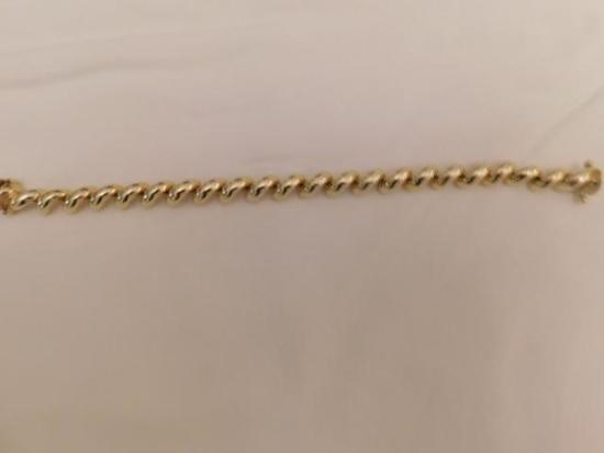 Heavy 14kt Gold Bracelet