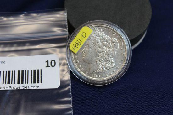 1881-O Morgan Silver Dollar