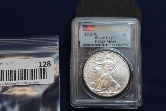 2008-W Silver Eagle - 1st Strike