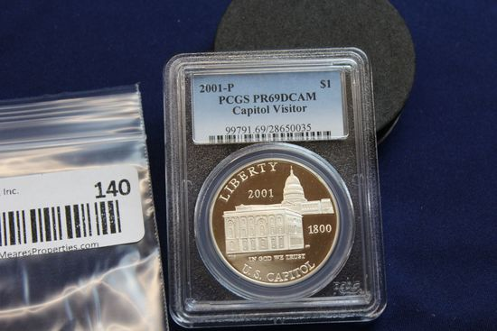 2001-P Capitol Visitor Silver Dollar