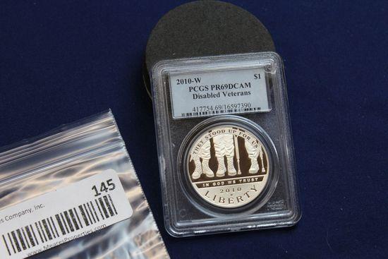 2010-W Disabled Veterans Silver Dollar
