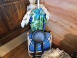 Beach Umbrella, Chair, Stool