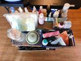Cart with Misc. Toiletries, Makeup