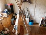 Lot of Easter Baskets, TeePeem Curtain Rods, Etc.