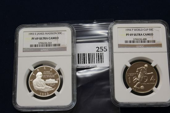 1994P World Cup 50C & 1993S James Madison 50C