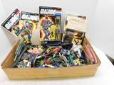 Box of Army Toys, and Other Figurines