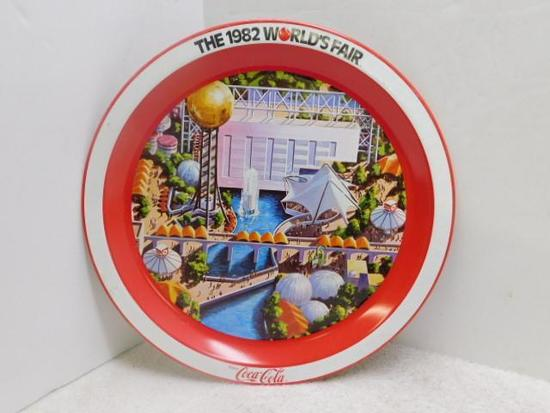 1982 World's Fair Coke Metal Plate