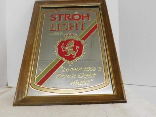Stroh Light Beer Sign