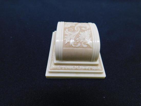 Vintage 14K White Gold Wedding Set with Diamonds