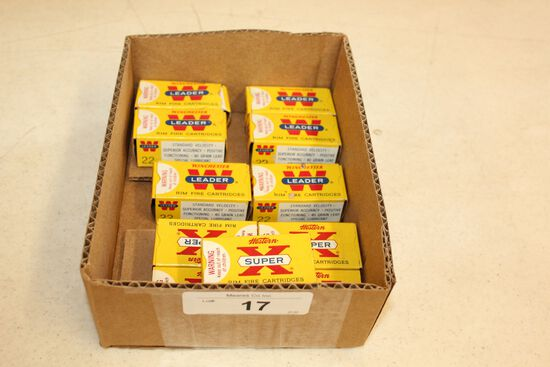 11 Boxes of .22 LR Ammo by Winchester & Western