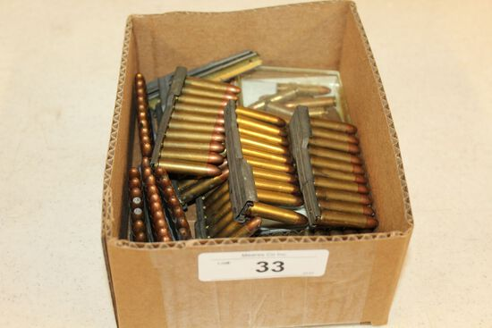 Over 130 Rounds of .30 Cal. Ammo w/Stripper Clips