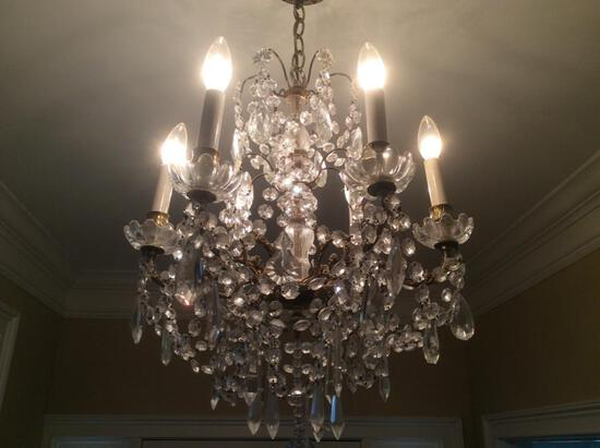 Small Vintage Baccarat Chandelier