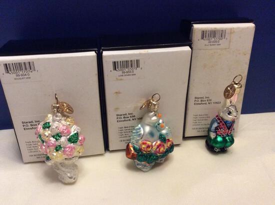"Radko ""Little Gems"" Ornament Lot"