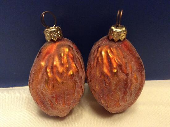 Radko Small Frosted Walnut Ornaments