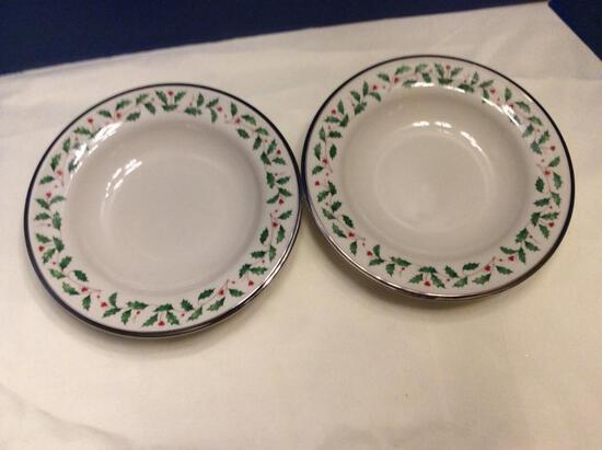 Lenox Holiday Platinum Soup Bowls (2)