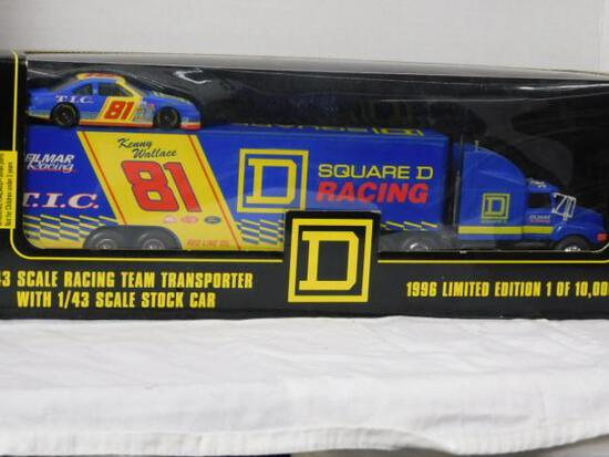 Kenny Wallace Transporter with Stock Car