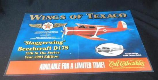 """Texaco Sign Aviation """"Wings of Texaco"""""""