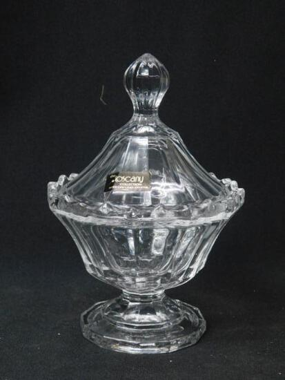 Covered Candy Dish The Toscany Collection - Lead Crystal