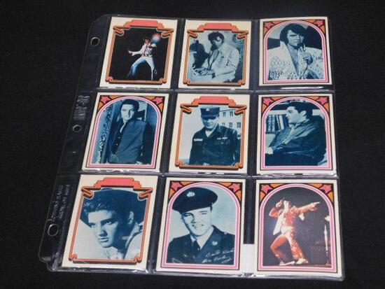 Lot of 9 Elvis Collector Cards