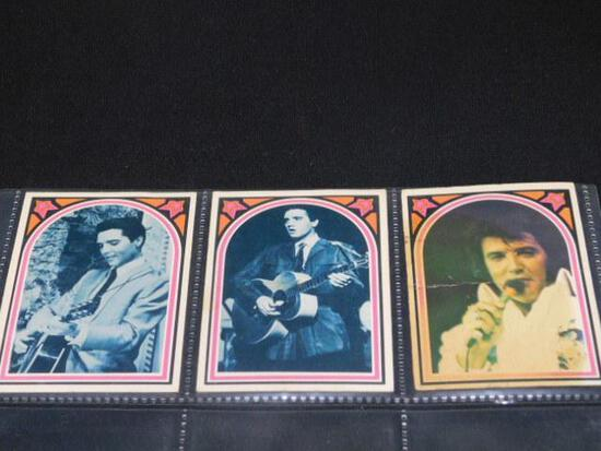 Lot of 3 Elvis Collector Cards