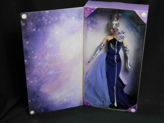 2001 The Sterling Silver Rose Barbie Designed By Bob Mackie