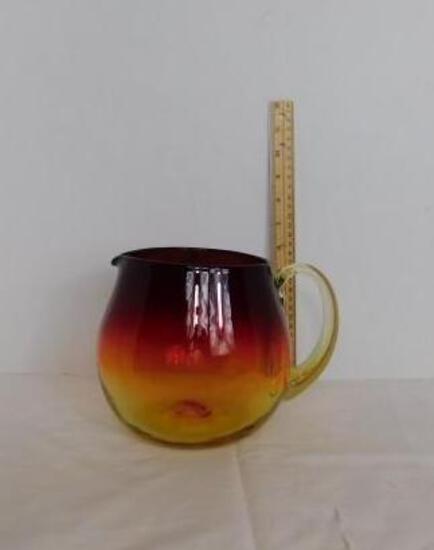 Amberina Glass Pitcher