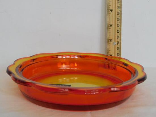 Amberina Glass Bowl