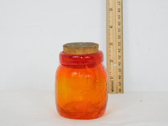 Amberina Glass Jar