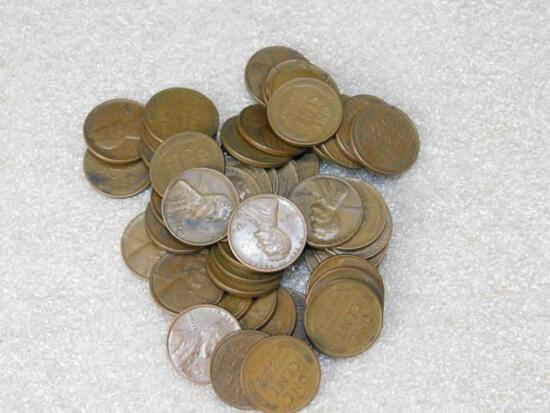 Wheat Pennies Approx 50