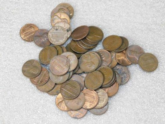 Pennies Approx 50 With Mixed Dates