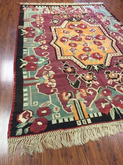 Antique Rug Hand Woven Arabian Kilim (Free Fedx) #947