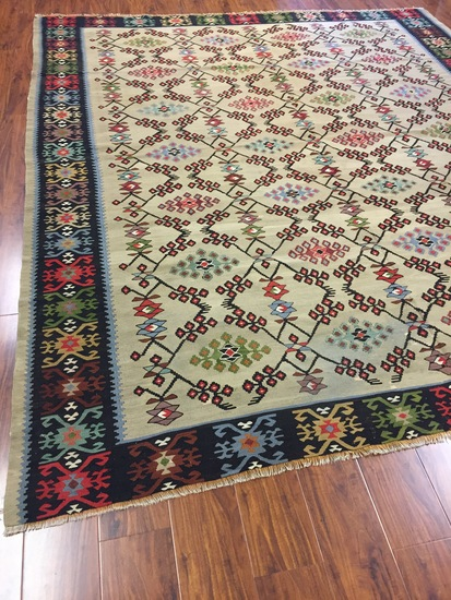 Antique Rug Hand Woven Bulgarian (Free Fedx) #1644