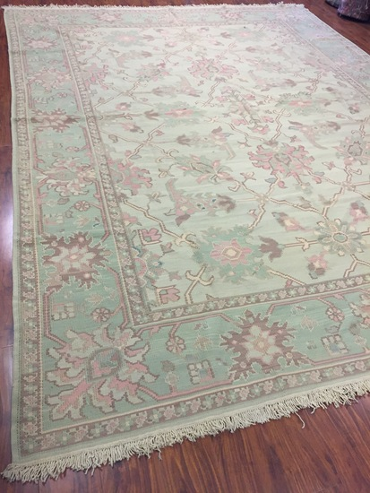 Antique Rug Hand Woven Bulgarian (Free Fedx) #1793