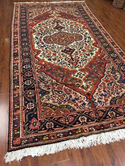Antique Rug Hand Woven Persian Bakhtan (Free Fedx) #381